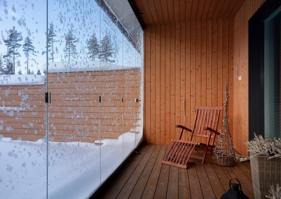 Зимова тераса зі скла