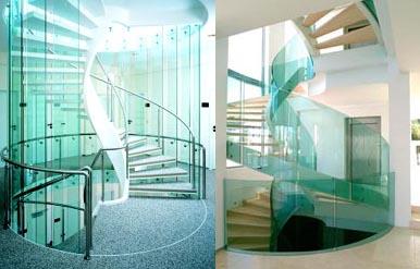 Лестница со стекла