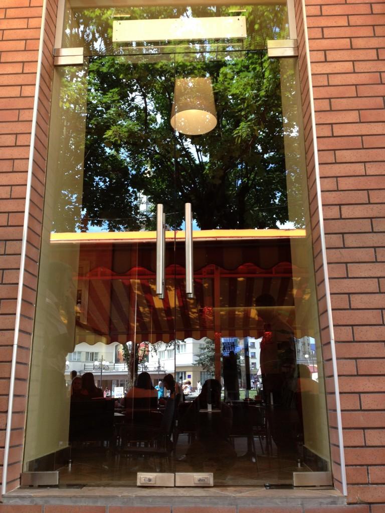 Вхідні скляні двері