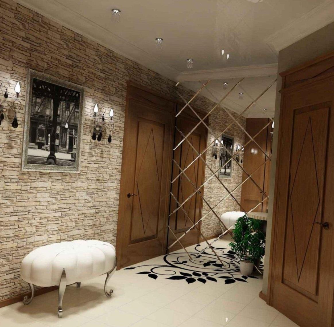 Зеркальная плитка в интерьере квартиры